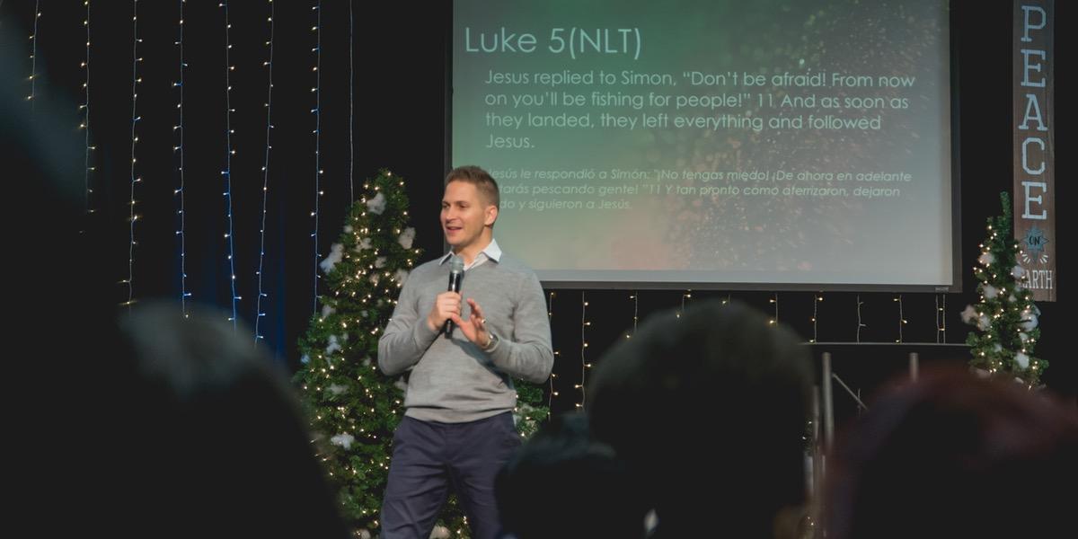 Pastor Joshua Swilley preaching